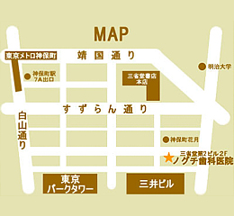 当医院までの地図